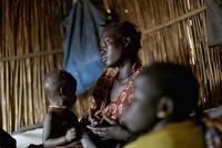 Tavitha Nyaluk, 26, has lived in the U.N. Protection of Civilians site near Bentiu for two years. She came because she was afraid soldiers might attack her family. Now she is afraid to leave, worried she wouldn't be able to feed her children.