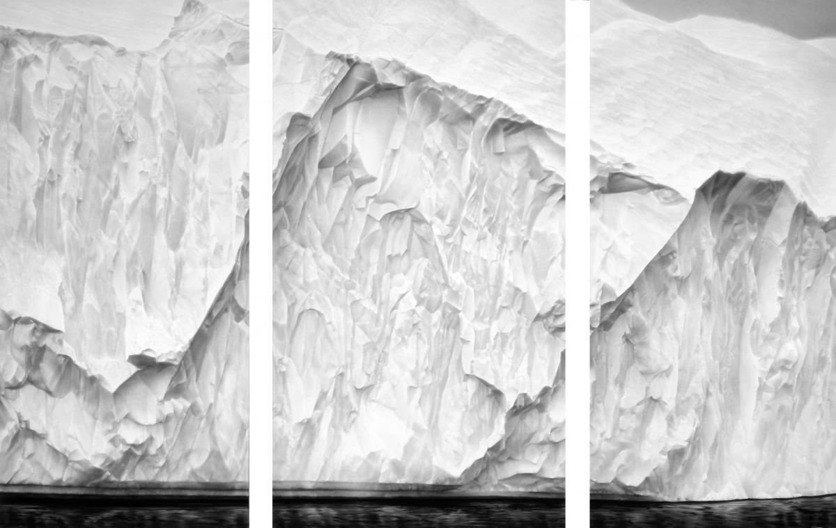 Robert Longo, Untitled (Iceberg for Greta Thunberg), 2020. Charcoal on mounted paper.