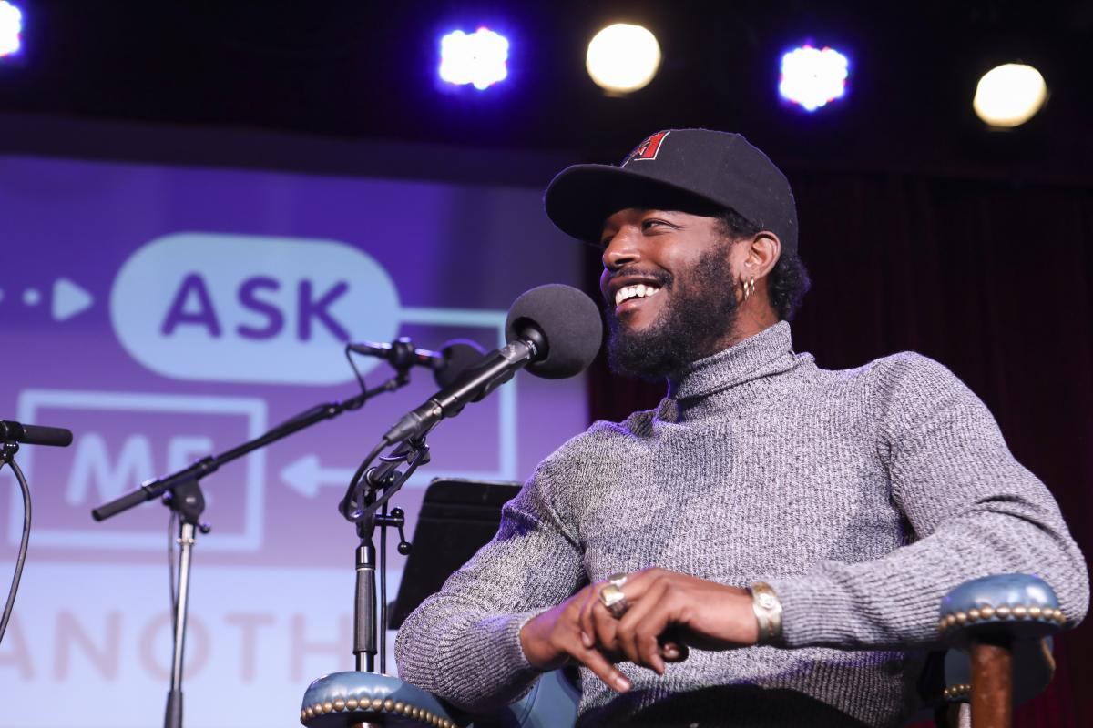 Luke James appears on Ask Me Another at the Bell House in Brooklyn, New York.