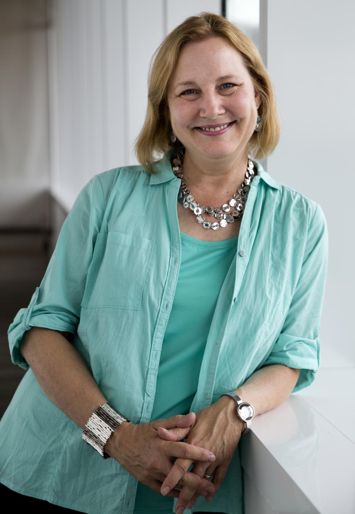 Katherine Applegate, pictured above at NPR in Washington, D.C., is the author of The Buffalo Storm, Home of the Brave and The One and Only Ivan. Along with her husband, she co-wrote the young adult series Animorphs.