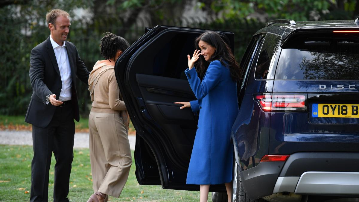 Meghan Markle, the Duchess of Sussex, and her mother Doria Ragland arrive at the launch of her cookbook featuring the recipes of women who lived in Grenfell Tower.