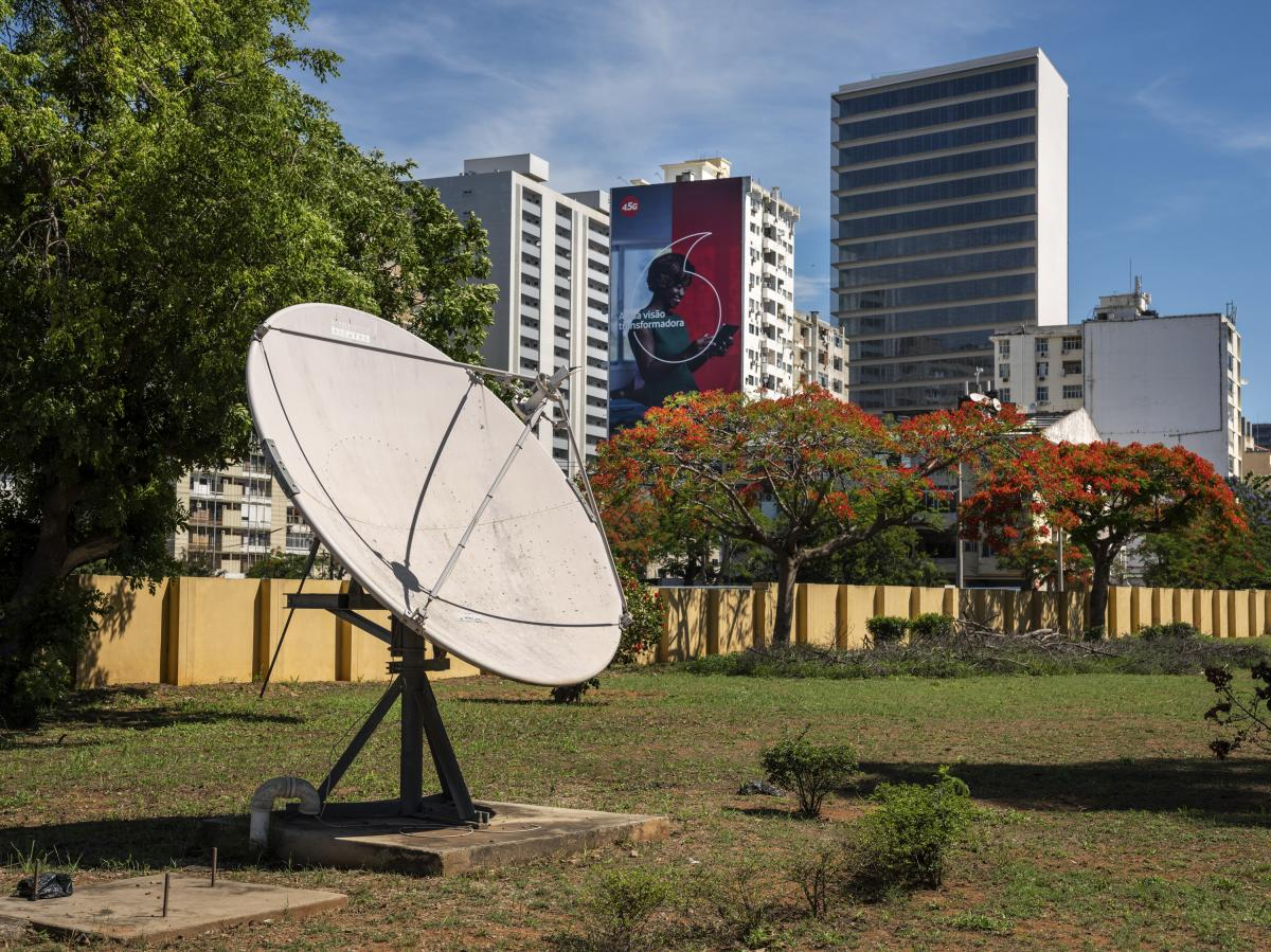 A satellite dish outside Mozambique's National Meteorology Institute receives weather information from European Union satellites. Meteorologists say they need more weather data for accurate local forecasts.