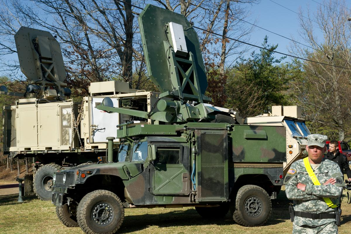 The Active Denial System, or ADS, is mounted on a truck and when it is aimed at an individual it gives the unpleasant sensation of heat or burning on the skin.