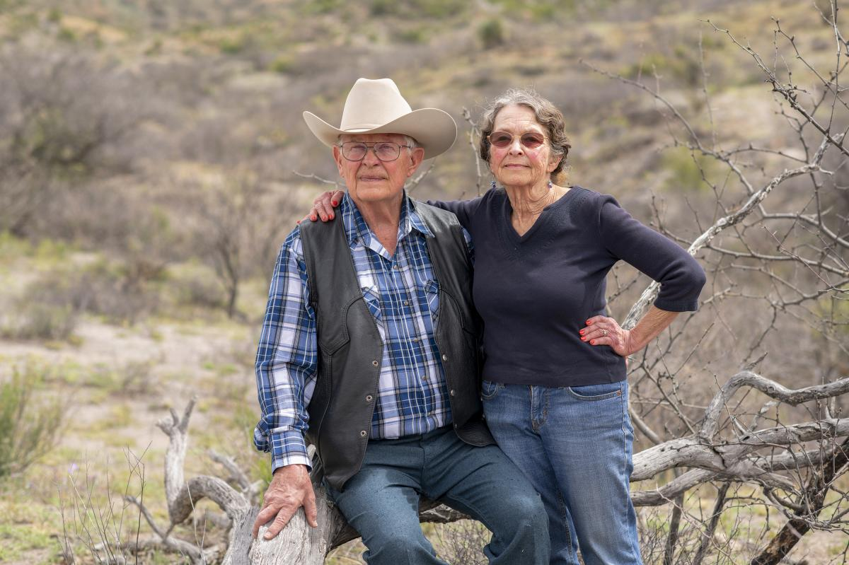 """Jim and Sue Chilton's views on politics and immigration are contentious with some in Arivaca. """"It's entirely civil because we all know the situation,"""" she says. """"You just don't broach certain subjects with certain people."""""""