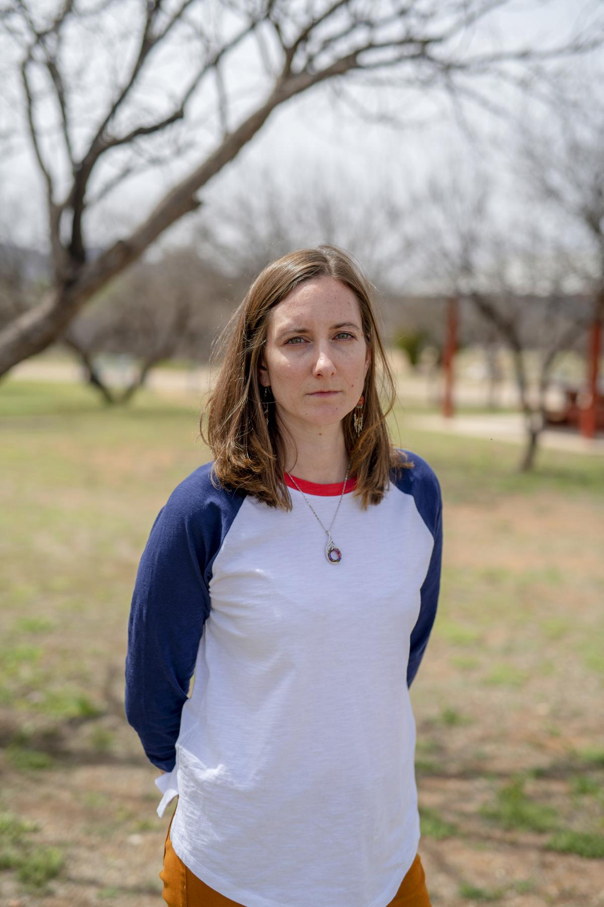 Kristen Randall publishes the local monthly newspaper, Connection. She moved her family to Tucson, Ariz., after receiving harassing messages and threats for several years. She still comes back to Arivaca on weekends.