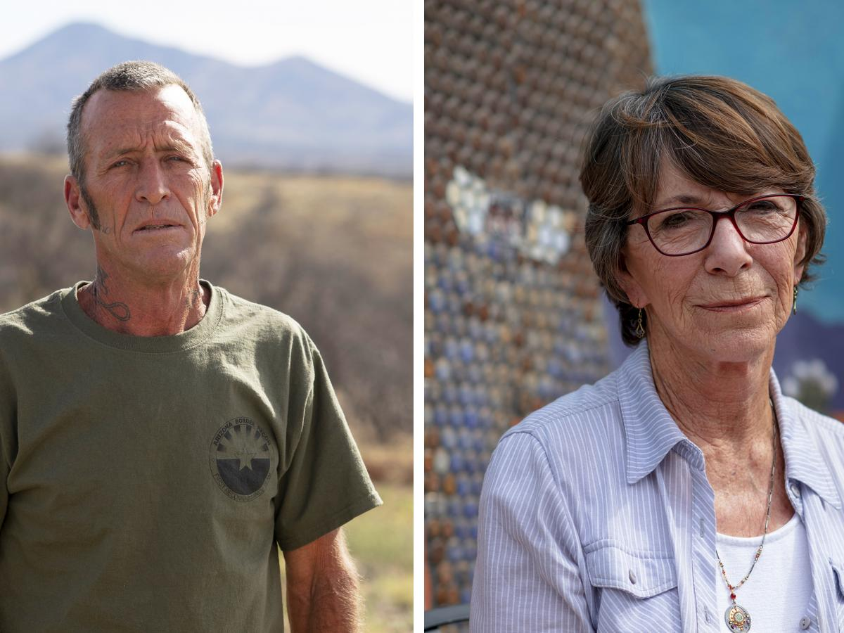 Tim Foley, the founder of Arizona Border Recon and Maggie Milinovitch, the co-owner of La Gitana Cantina, both live in the small border town of Arivaca, Ariz. The recent militia group presence has put strains on a town that has long prided itself on its l
