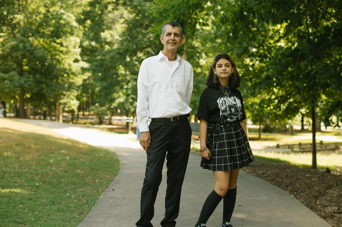 Mehran Mossaddad's 10-year-old daughter, Ramana, is back at in-person school, freeing him up to resume driving for Uber.