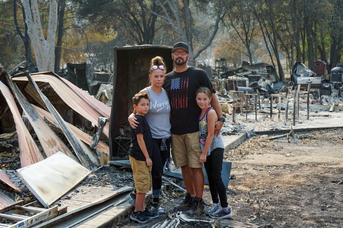 The Montanos had 10 minutes to evacuate their Vacaville home as a wildfire closed in. Tens of thousands of others have evacuated this year due to wildfires in the West.