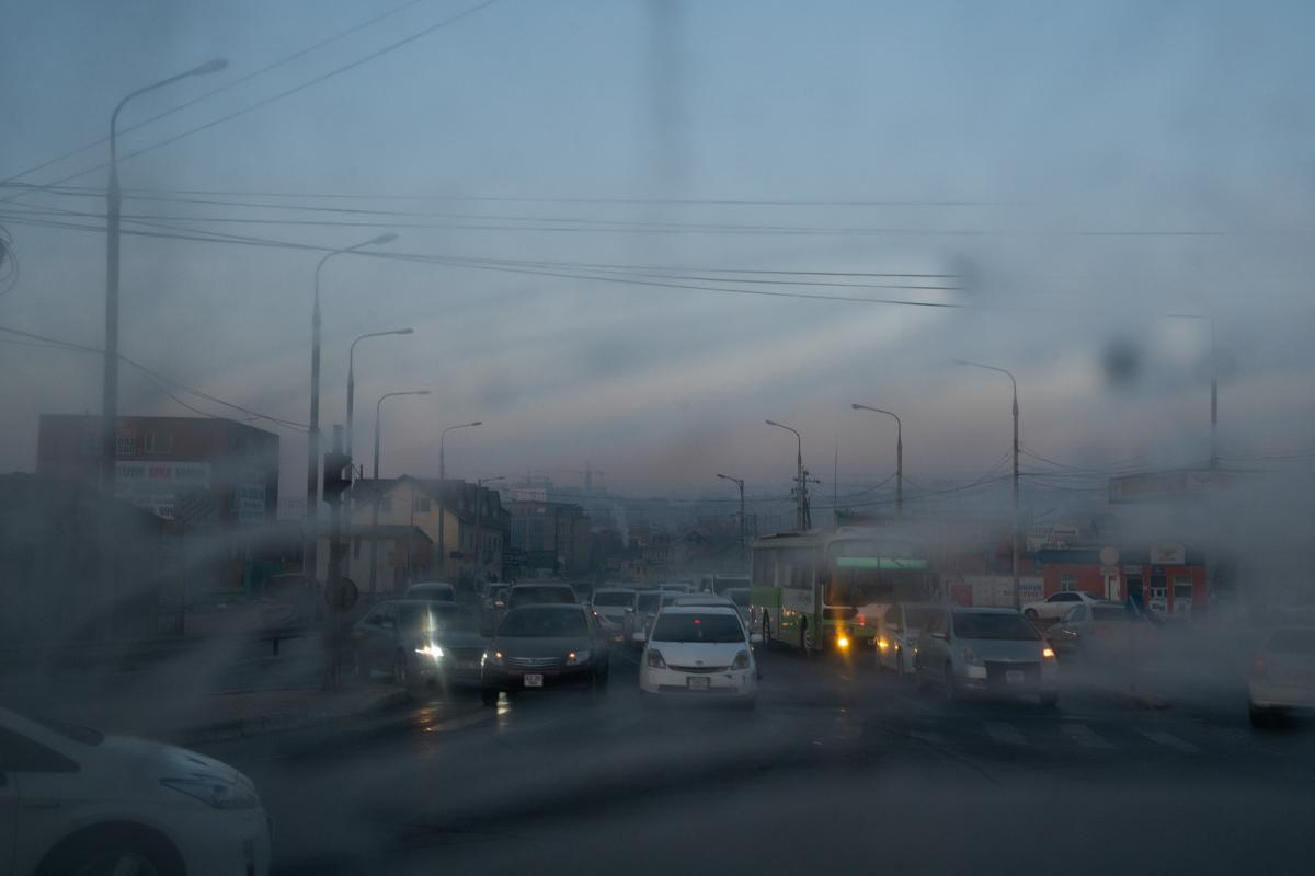Winter mornings in Ulaanbaatar have a misty hue. Smog obscures visibility and chokes streets with pollutants, including ground-level ozone, particle pollution, carbon monoxide and sulfur dioxide.