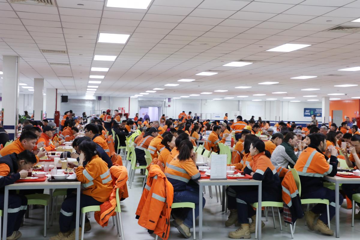 Oyu Tolgoi's cafeteria is named after the endangered Gobi brown bear. Over 95% of the 2,500-member workforce is Mongolian.