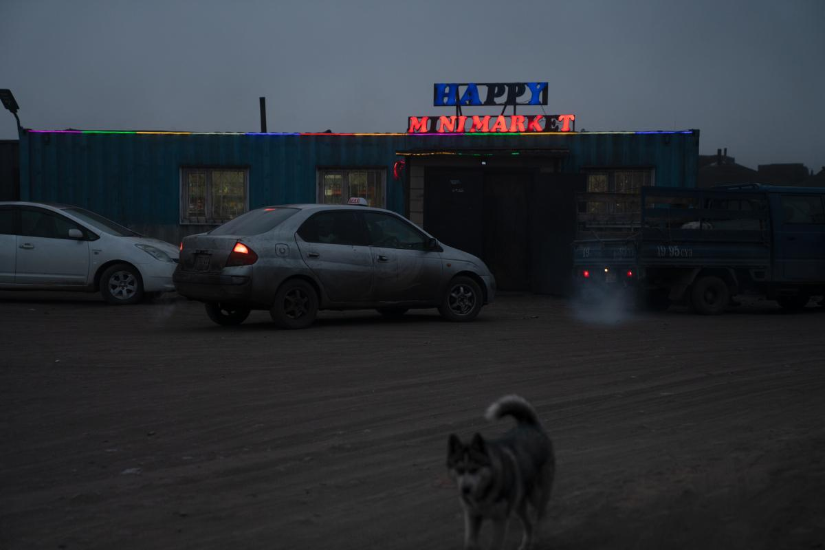 The Happy Mini market is located in the center of Tsagaan Khad. The town bloomed in the South Gobi as the road network grew, a gathering of service providers catering to drivers and passerby.