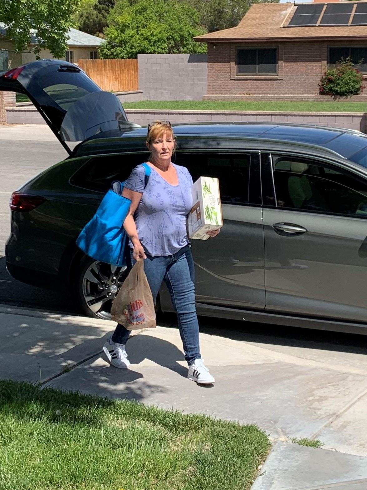 Sharon Goen, a former Las Vegas bar owner, is retired, but she delivers groceries for Instacart to make ends meet.