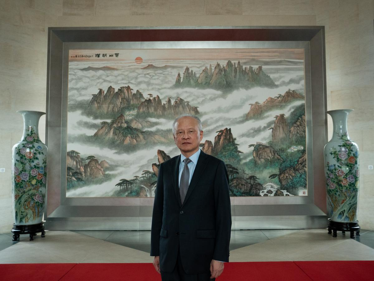The Chinese ambassador to the U.S., Cui Tiankai, would not explain to NPR why the top Communist Party officials in Hubei were recently relieved of their duties.