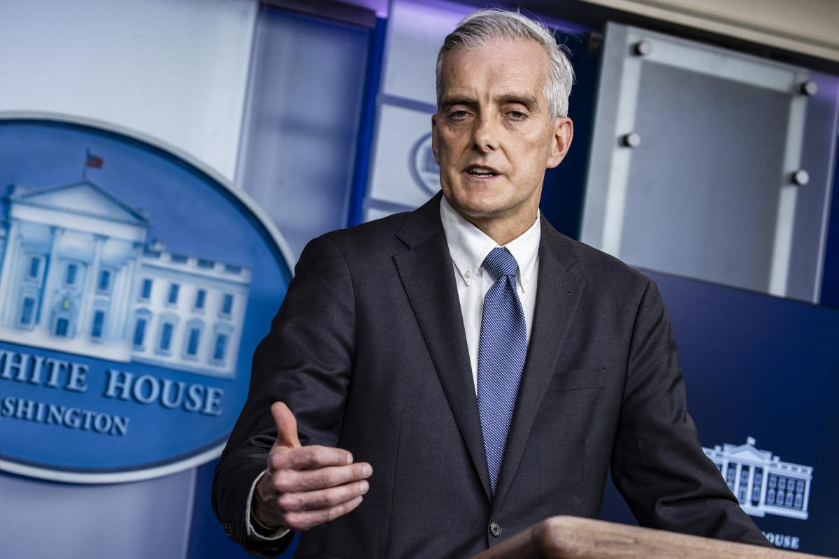 Secretary of Veterans Affairs Denis McDonough, seen here in March, says the VA will begin requiring patient-facing employees to be fully vaccinated.