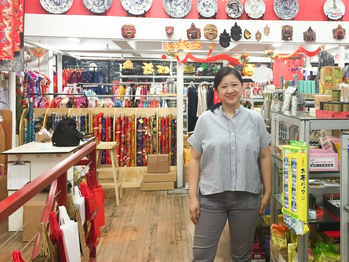 Joanne Kwong is familiar with the struggle for customers during the pandemic. She runs Pearl River Mart, a department store that sells Asian decor and art. Her store has a location in Chelsea.