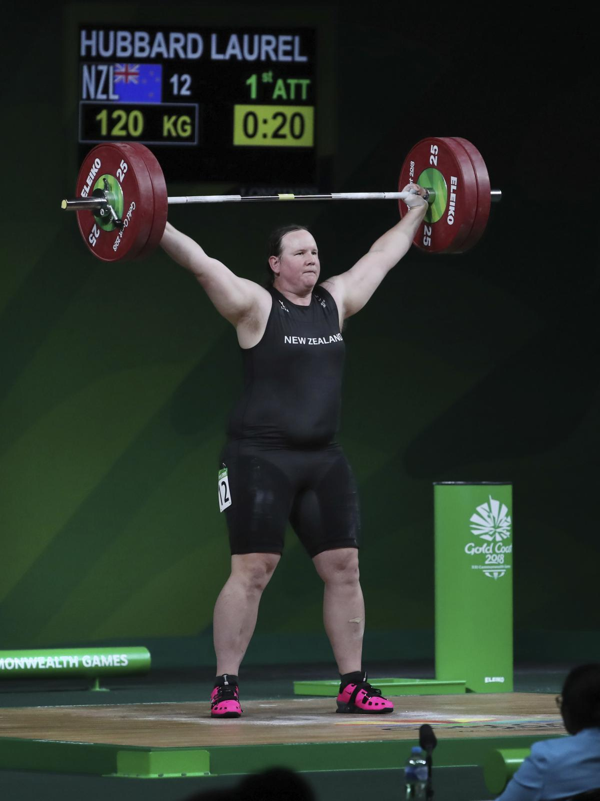 Hubbard competes at the 2018 Commonwealth Games.