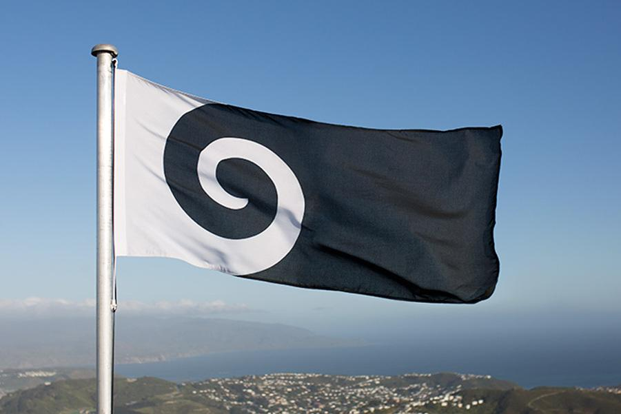 """The """"Koru"""" design, by Andrew Fyfe, represents an unfurled silver fern frond """"but is also reminiscent of a wave, a cloud, and a ram's horn,"""" the designer writes."""