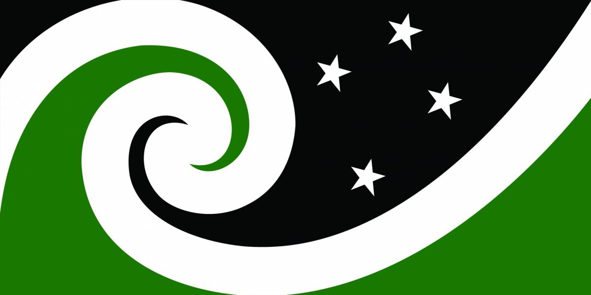 """Manawa (Black & Green),"" by Otis Frizzell."