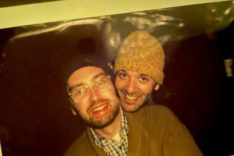 Cooper Lewis (left) and his husband Gabriel Riazi.