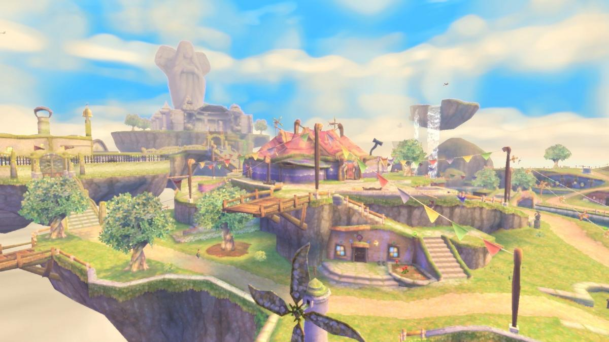 Skyward Sword HD offers a beautiful world with plenty of interesting spots to explore.