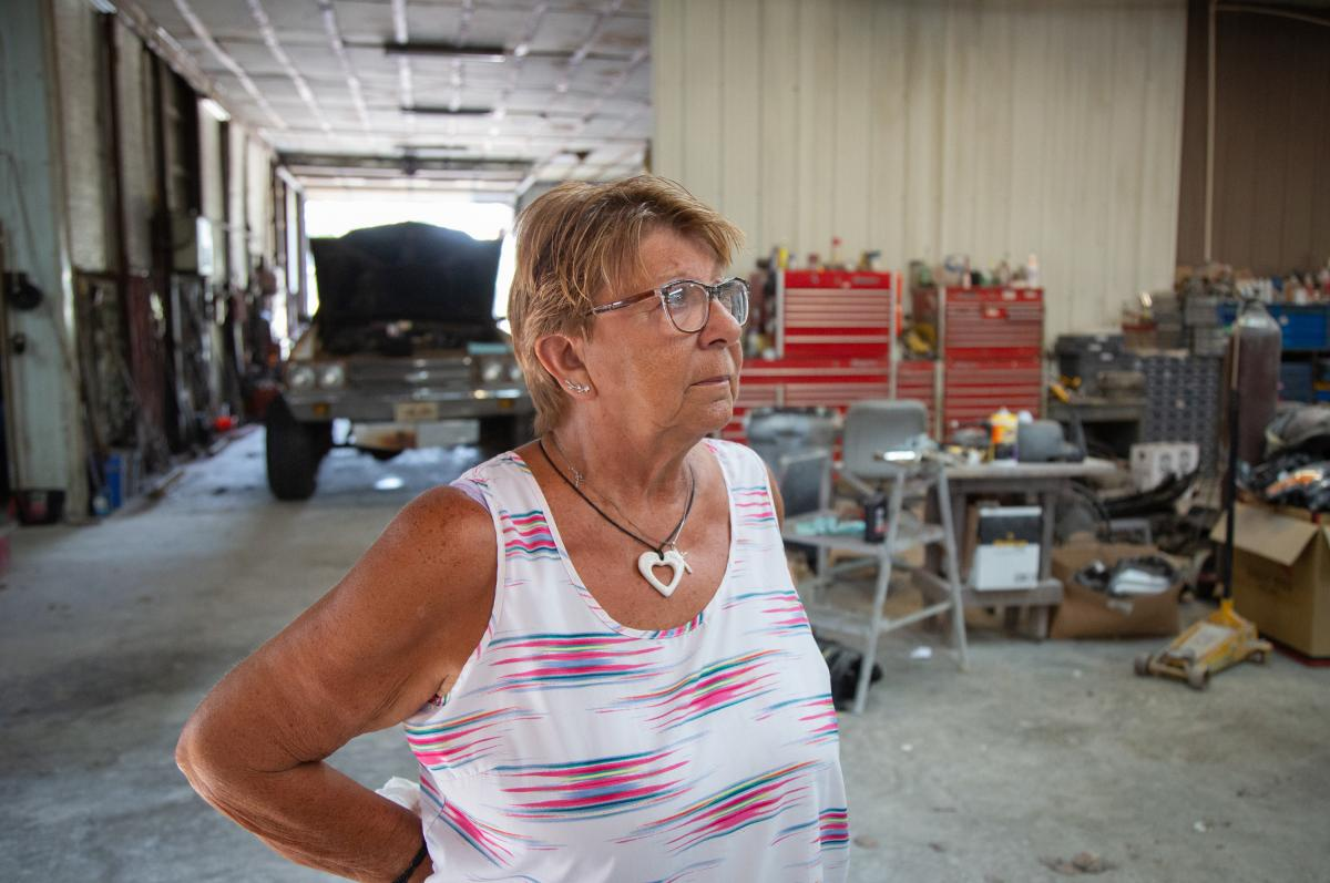 "Linda Findley's husband, Robert, opened Findley Body Repair in 1975. Linda says she doesn't know what she's going to do with the Fort Scott, Kan., business. She kept two workers on for six weeks after Robert's death to close out active orders. ""I guess I'"