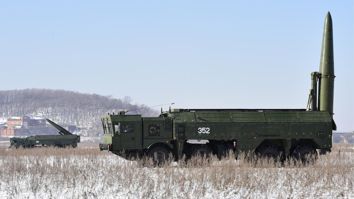Russia's Iskander missile, pictured here, is a highly accurate short-range weapon capable of carrying both conventional and nuclear warheads.