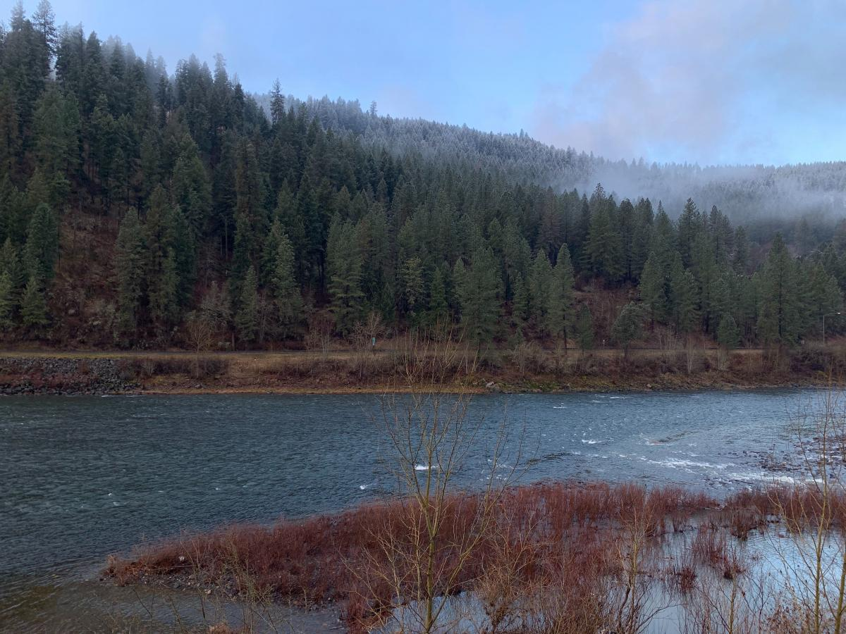 Morning on the Clearwater River near Orofino, Idaho. This past fall, Idaho officials closed the Clearwater to steelhead trout and salmon fishing due to extremely low runs.