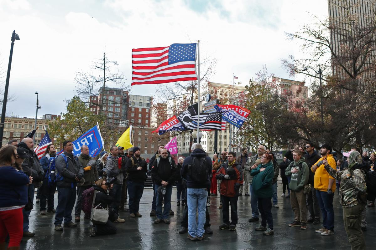 When members of the Washington Three Percent rallied in Seattle last month, leftists with whom they have communicated with in the past showed up to protest.