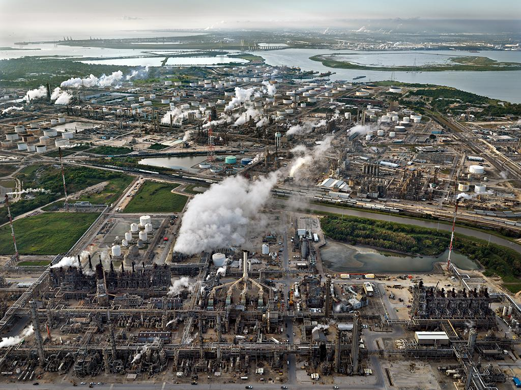 A 3,400-acre Exxon Petrochemical plant in Baytown, Texas, produces materials for tires, car bumpers and over 500,000 barrels of crude oil per day, according to the company.
