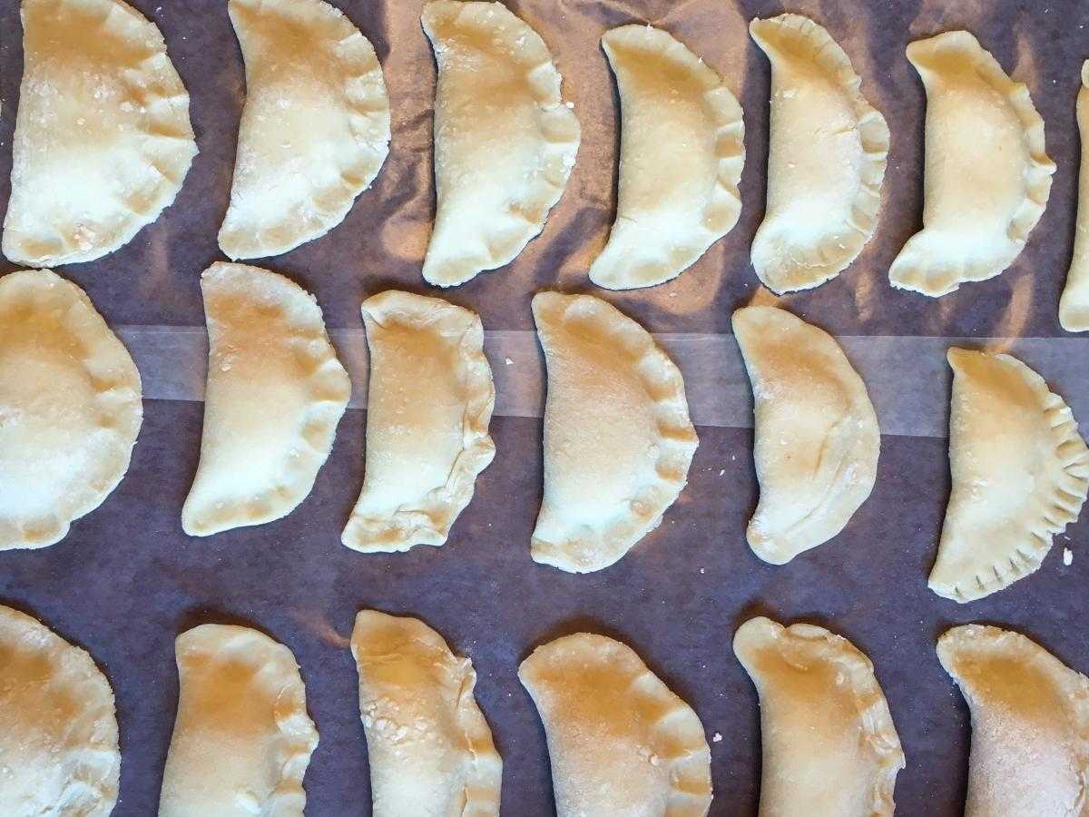 Each member of the author's family has a go-to way to seal pierogi.