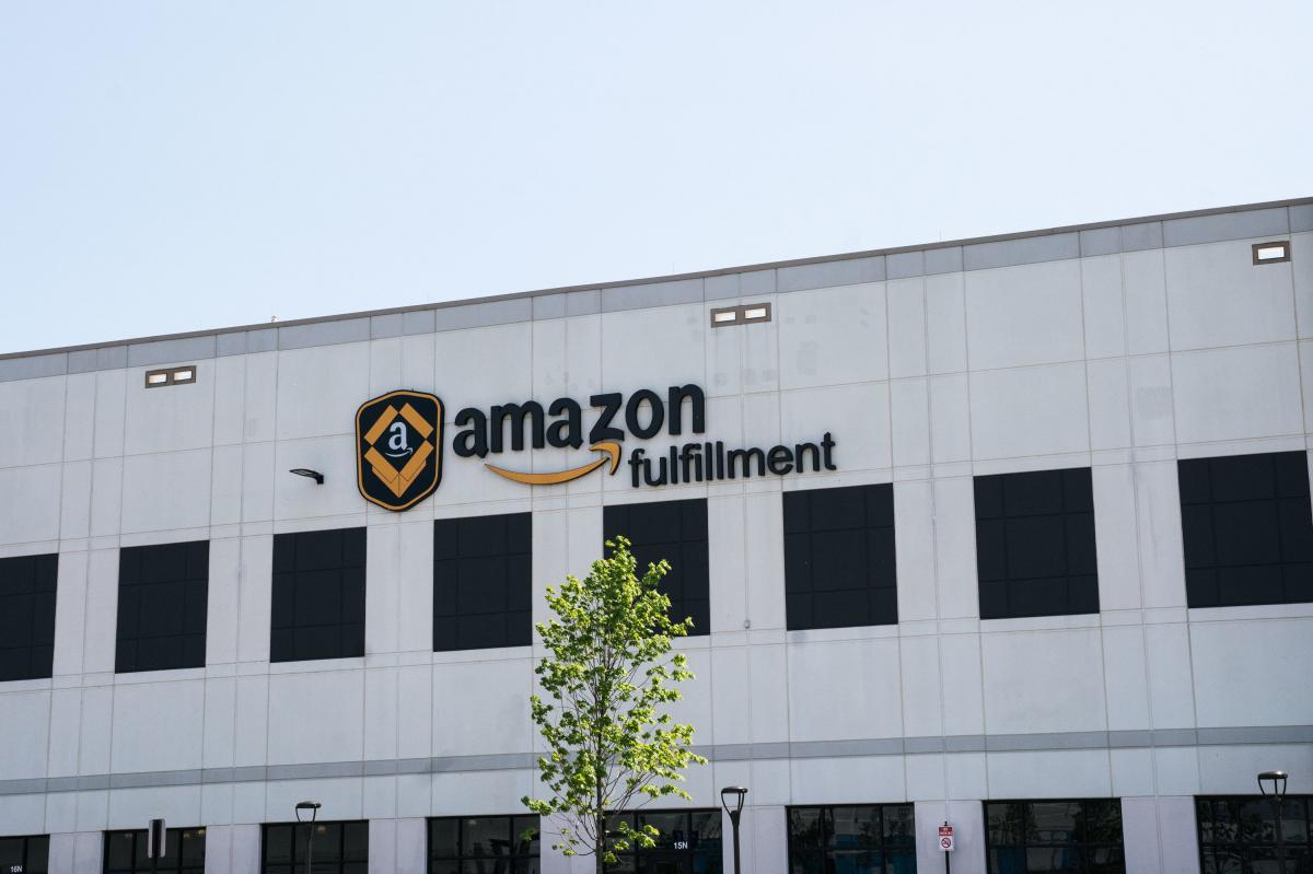 The exterior of a fulfillment center in Baltimore.