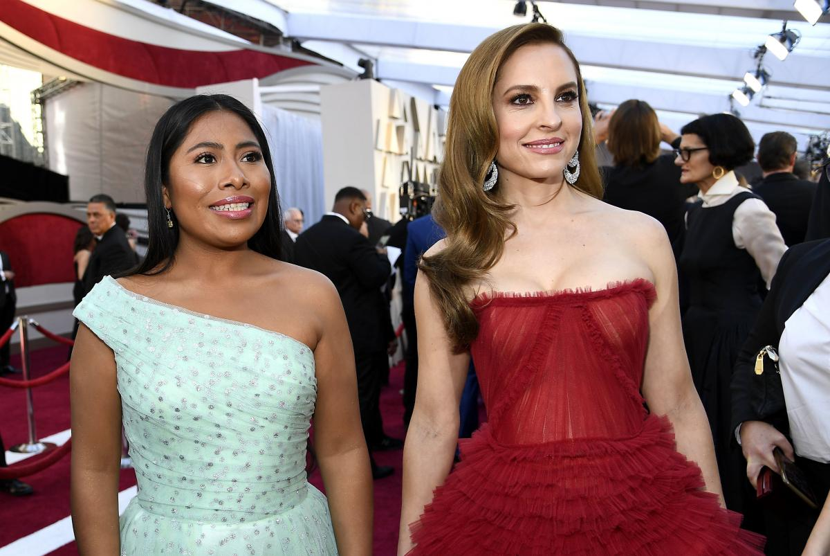 Yalitza Aparicio, left, and Marina de Tavira, right