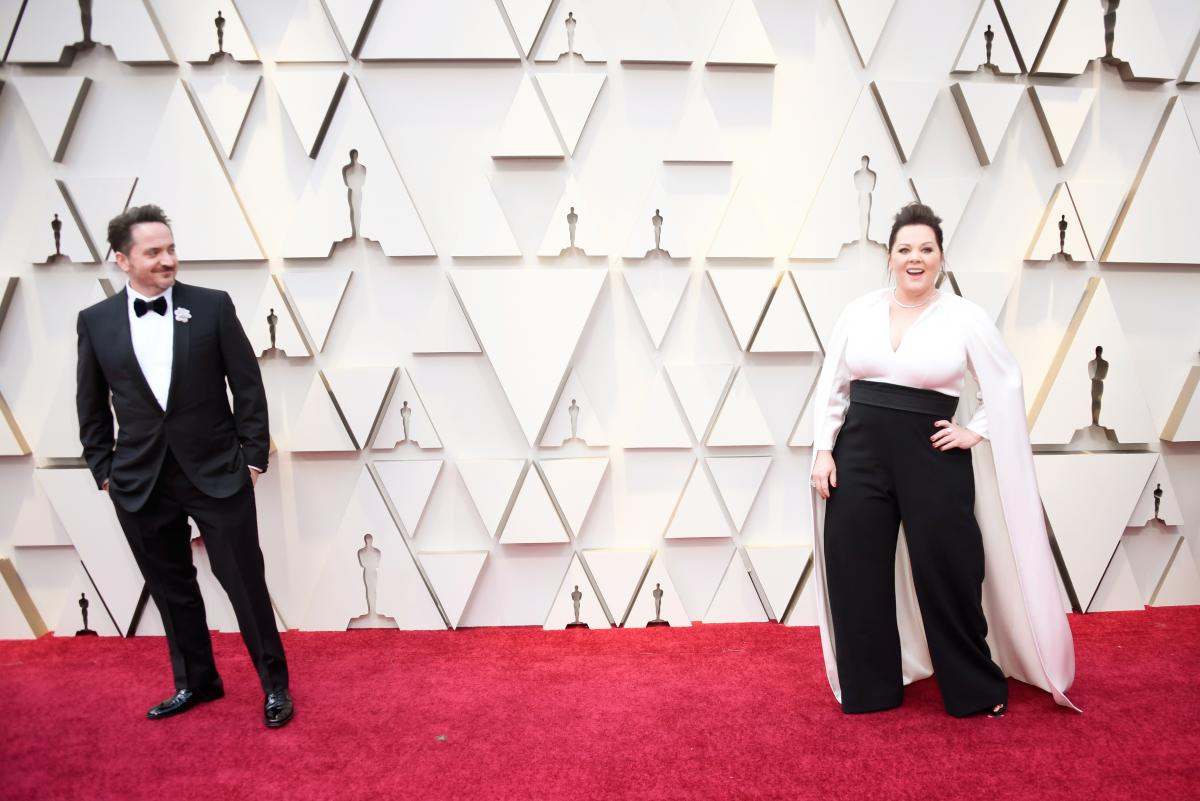 Ben Falcone, left, and Melissa McCarthy, right