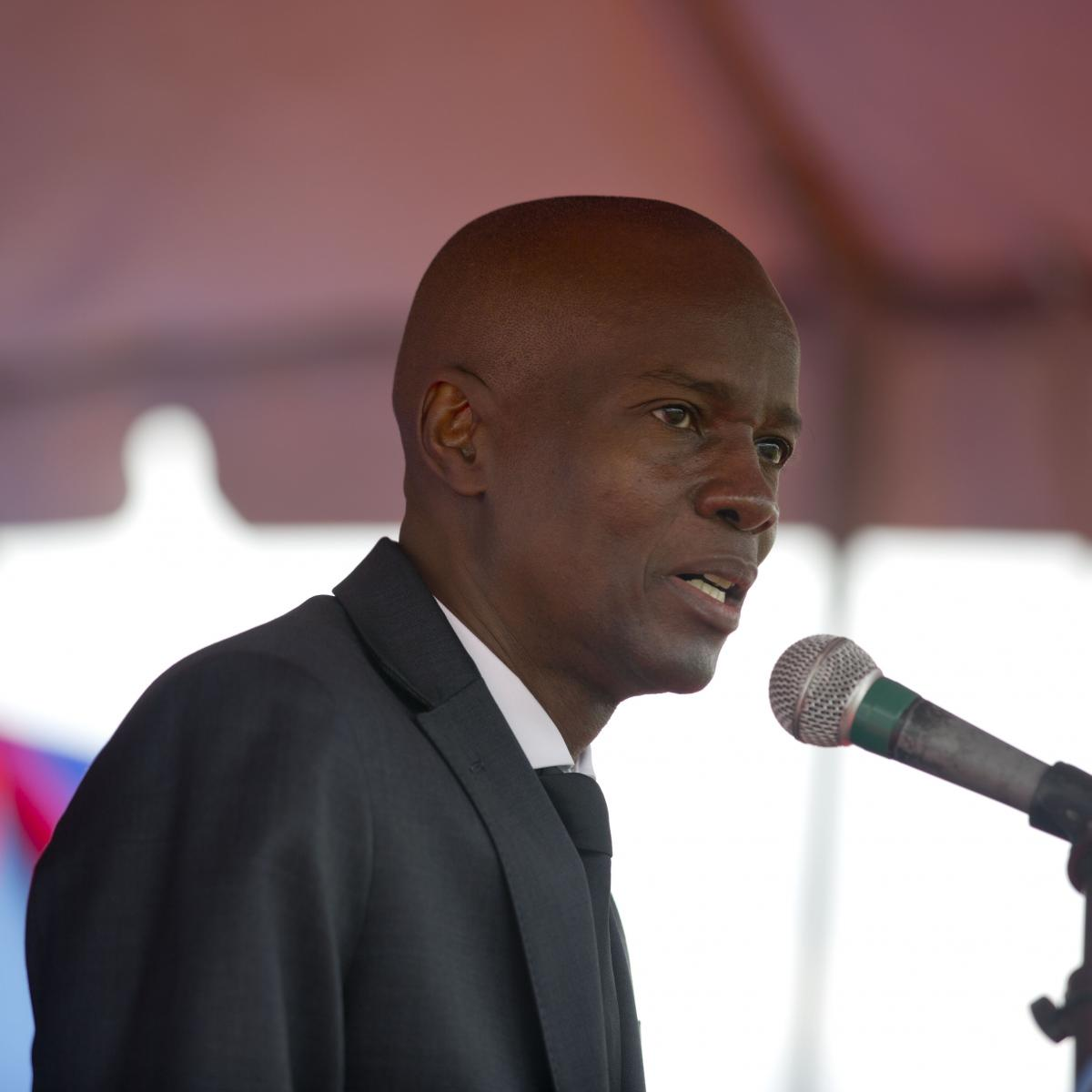 Haiti's president Jovenel Moise talks during a ceremony to lay the first stone for the construction of a new National Palace on the 8th anniversary of the 2010 earthquake, in Port-au-Prince, Haiti, in January.