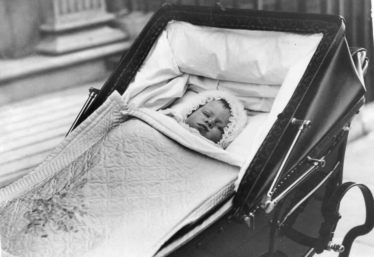 Even kings and queens have baby pictures. Queen Elizabeth II is shown here in 1926. She was born on April 21 of that year.