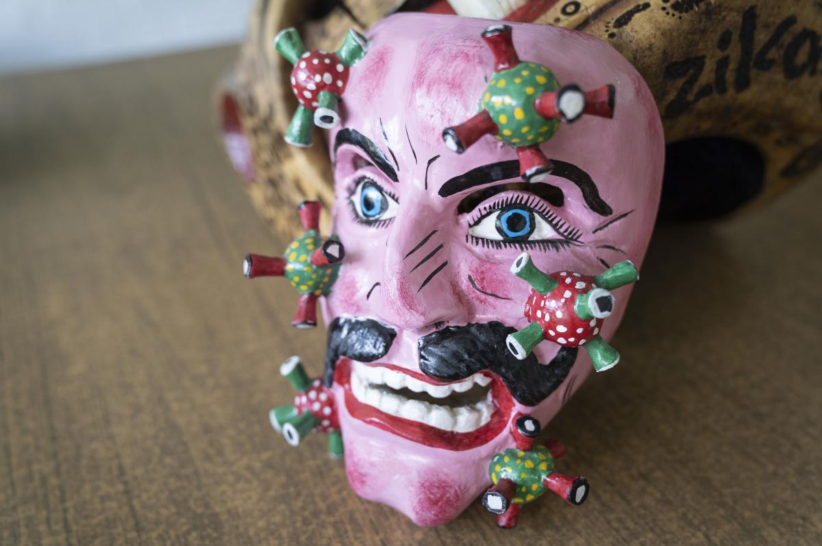 """""""Mestizo Man,"""" Nahua artisan Zeferino Baltasar Basilio, San Francisco Ozomatlán, Guerrero, Mexico."""