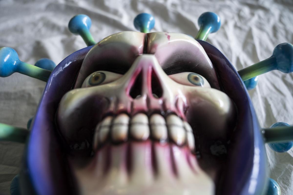"""""""COVID Skull,"""" Melky Argüelles, Naolico, Veracruz, México."""