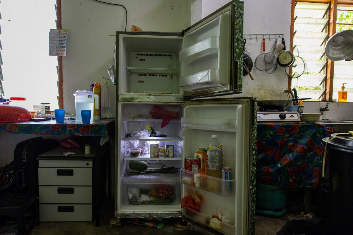 The refrigerator is mostly empty. Mohd lost his job as a restaurant dishwasher at the start of the crisis and can no longer afford the meat, fruit, bread and eggs he used to buy for his family.