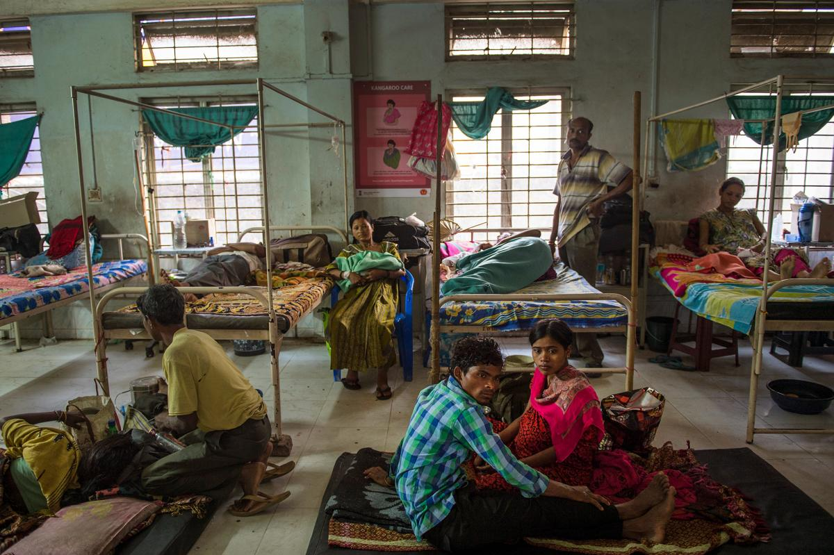 """Addario recalls visiting Tezpur Civil Hospital in Assam, India, """"where there's tea plantations all around. In that area I was looking at the conditions for women, and you can tell that [the hospital] is grossly overcrowded. There were women waiting to del"""