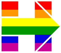 Hillary Clinton's campaign logo was changed Tuesday to show support for same-sex marriage on the day of oral arguments at the Supreme Court.