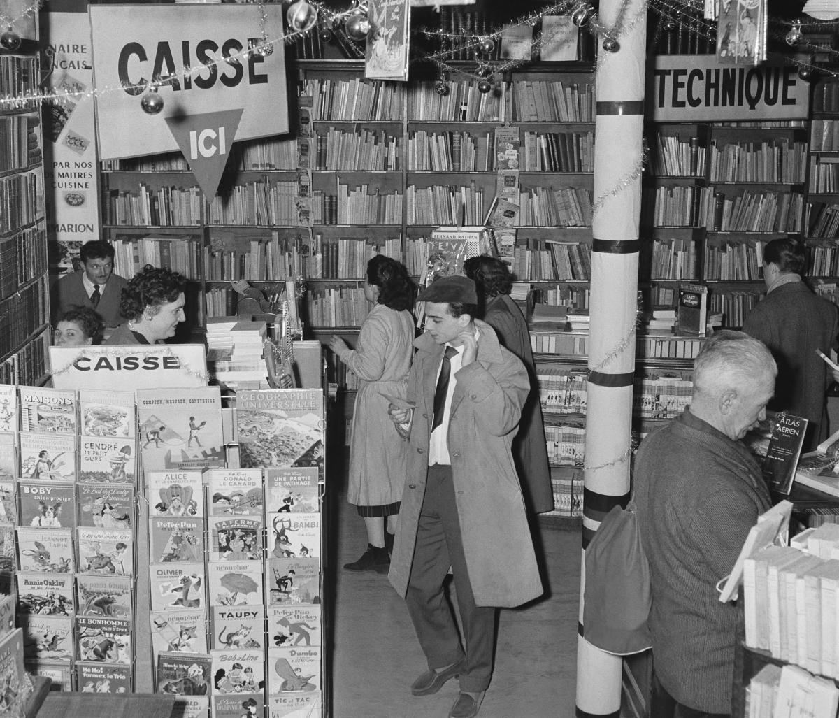 Paris' Gibert Jeune bookstore in 1956.