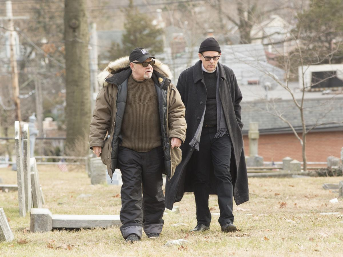"""Screenwriter/director Paul Schrader, left, says that as he was writing the script for First Reformed, he knew he wanted Ethan Hawke to play the main character. """"He was just coming to a very interesting place in his physical life,"""" Schrader says of Hawke."""