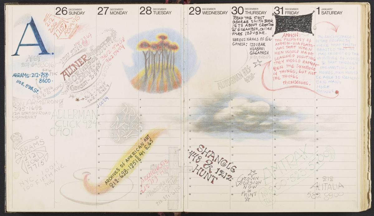 Bernarda Bryson Shahn's address book, 1972-2002