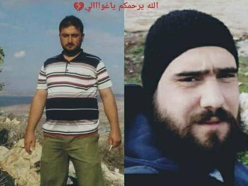 Khaled Mustafa Qurmo (left) and Khaled Abdel Majid Qurmo died of shrapnel wounds to the chest, according to autopsy reports.