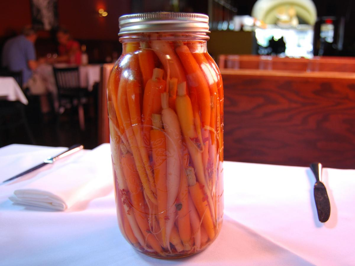 Refrigerator carrot pickles.