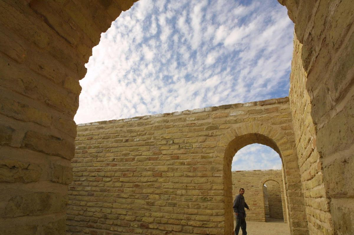An Iraqi walks around the House of Abraham in the biblical city of Ur, in southern Iraq, in 2002. It is one of the sites Pope Francis is scheduled to visit on his trip to Iraq in March.