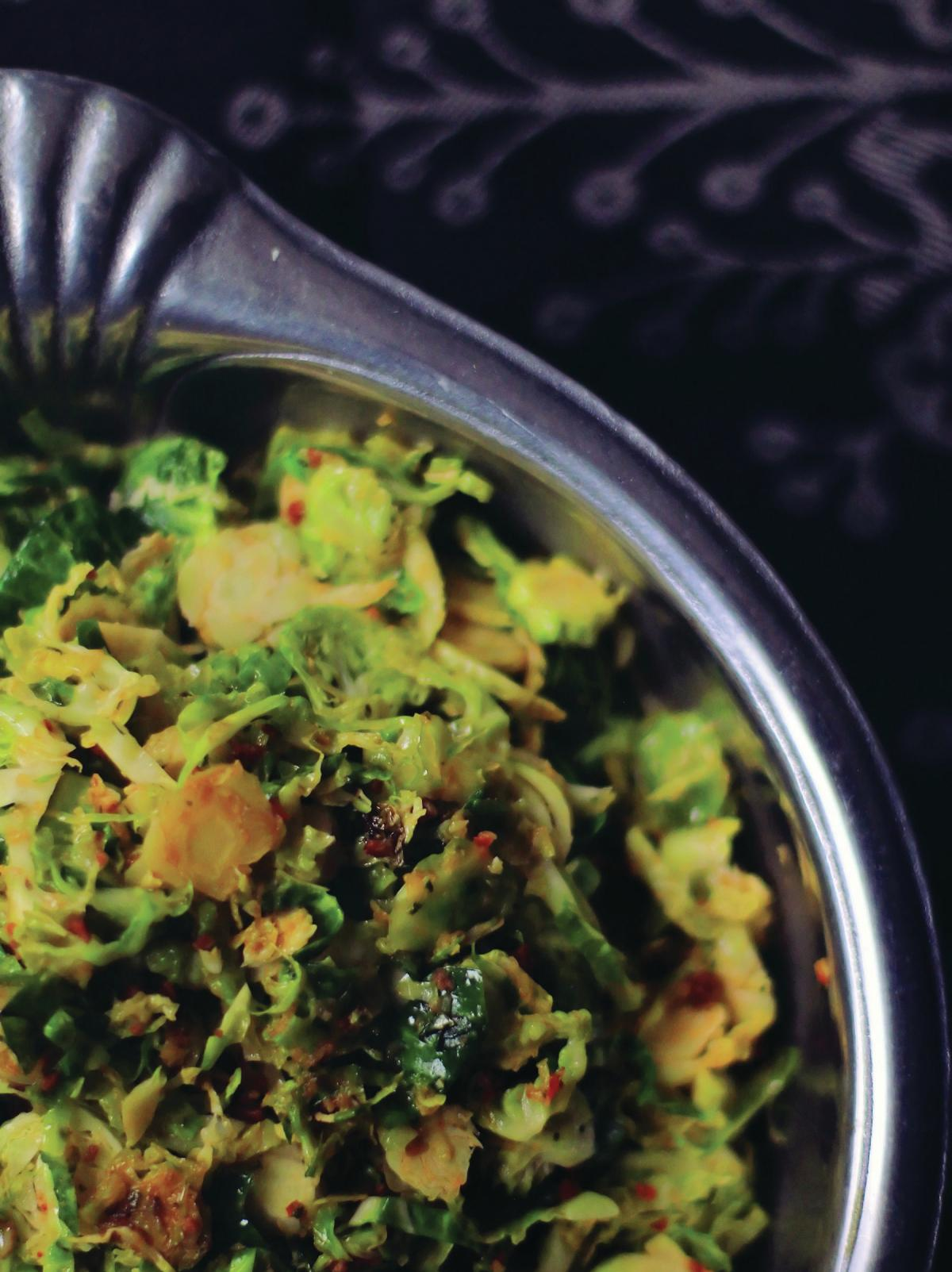 Brussels Sprouts with Chorizo Sofrito