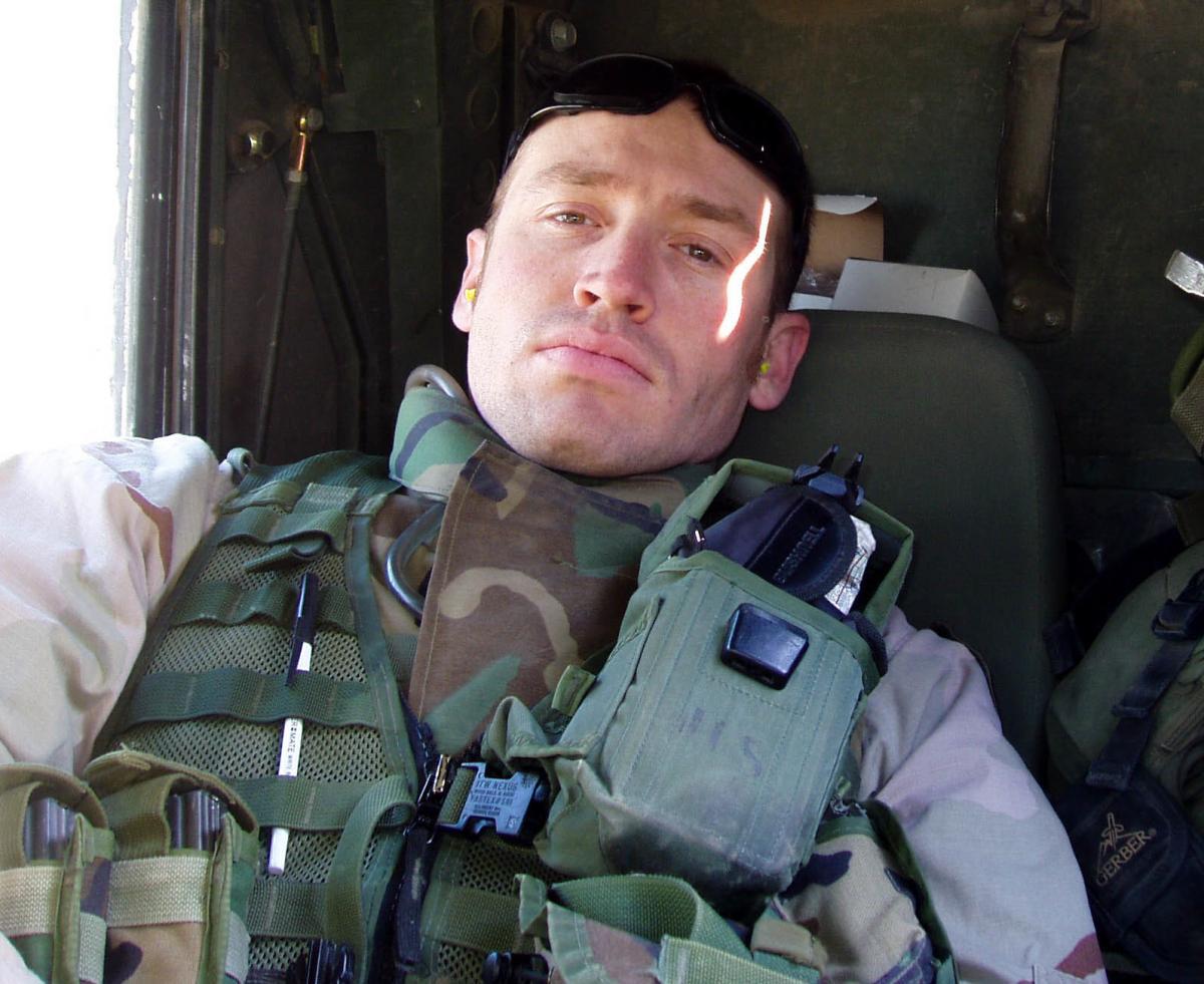 Garett Reppenhagen didn't let his 2004 deployment to Iraq prevent him from celebrating Halloween.