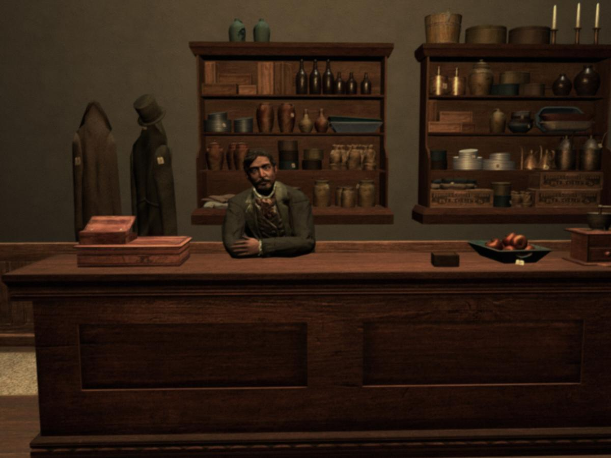 This is not really a survival simulator — if you're hungry, head to the general store for supplies. Or have dinner at Mom's.