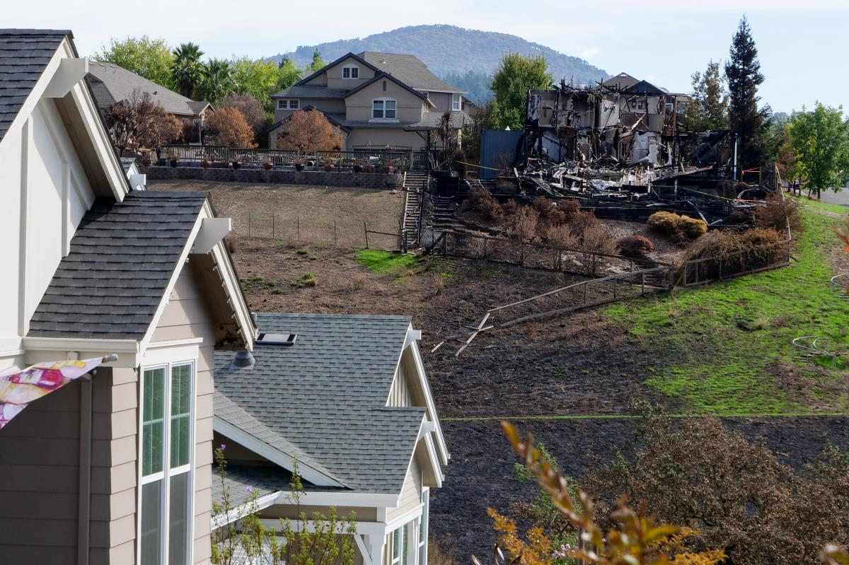 Most homes are ignited by embers carried by the wind, which means some homes are untouched while next door, others are destroyed.